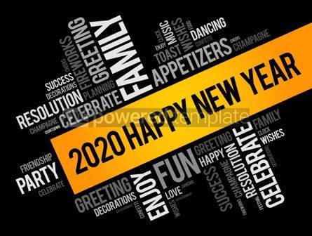Business: 2020 year greeting word cloud collage #12153