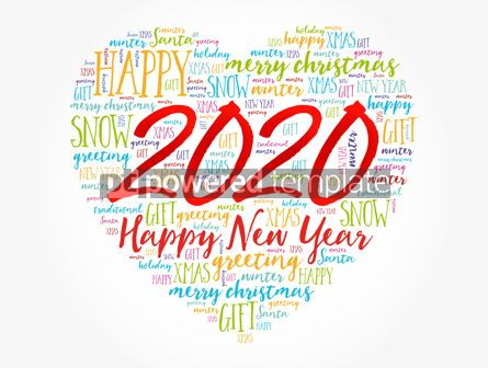 Business: 2020 Happy New Year Heart word cloud collage #12154
