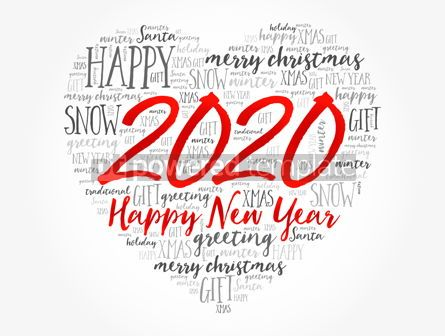 Business: 2020 Happy New Year Heart word cloud collage #12155
