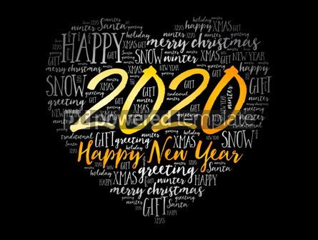 Business: 2020 Happy New Year Heart word cloud collage #12157
