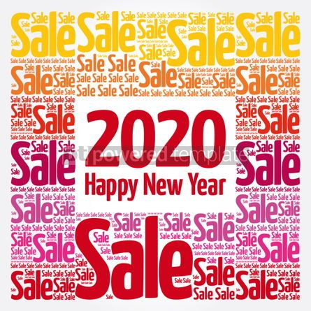 Business: 2020 Happy New Year. Christmas Sale word cloud #12161