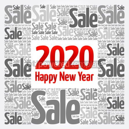 Business: 2020 Happy New Year. Christmas Sale word cloud #12162