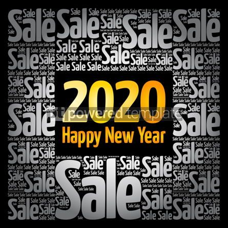 Business: 2020 Happy New Year. Christmas Sale word cloud #12163