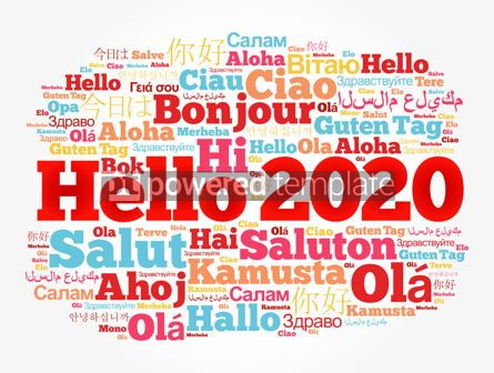 Business: Hello 2020 word cloud in different languages #12164
