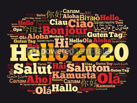 Business: Hello 2020 word cloud in different languages #12165