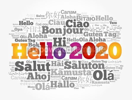 Business: Hello 2020 word cloud in different languages #12166
