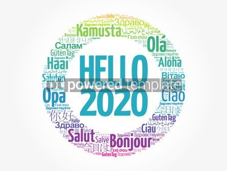 Business: Hello 2020 word cloud in different languages #12168