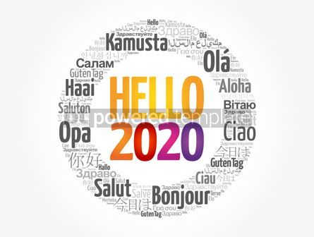 Business: Hello 2020 word cloud in different languages #12169
