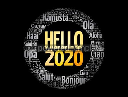 Business: Hello 2020 word cloud in different languages #12170