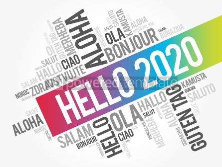 Business: Hello 2020 word cloud in different languages #12171