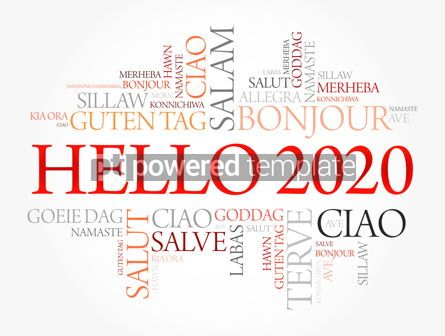 Business: Hello 2020 word cloud in different languages #12172
