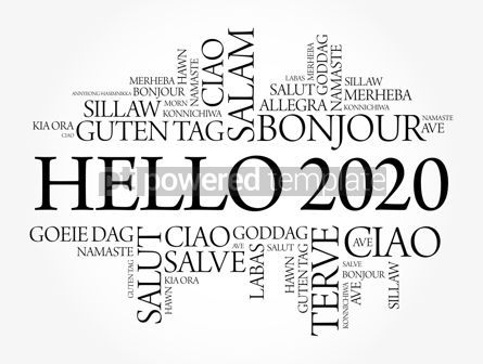 Business: Hello 2020 word cloud in different languages #12173