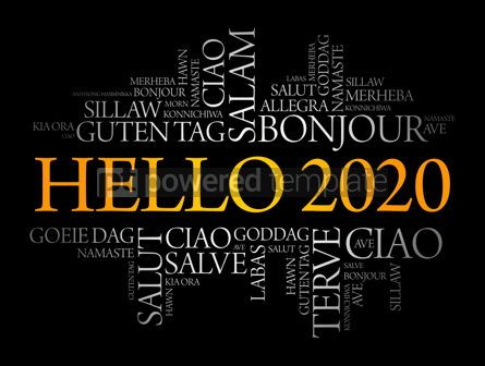 Business: Hello 2020 word cloud in different languages #12174
