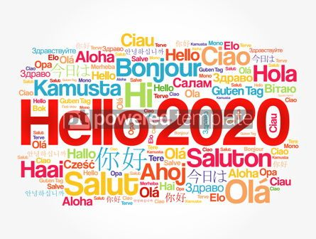Business: Hello 2020 word cloud in different languages #12175