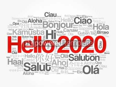 Business: Hello 2020 word cloud in different languages #12176