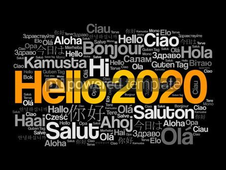 Business: Hello 2020 word cloud in different languages #12177