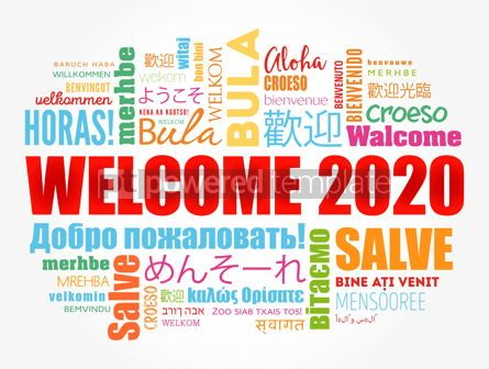 Business: Hello 2020 word cloud in different languages #12185