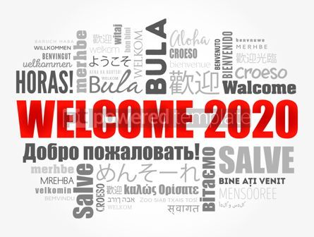 Business: Hello 2020 word cloud in different languages #12186