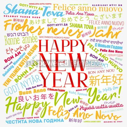 Business: 2020 Happy New Year in different languages #12191