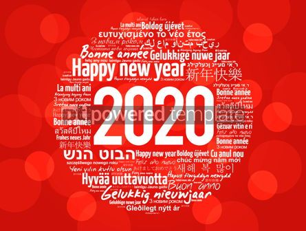 Business: 2020 Happy New Year in different languages #12196