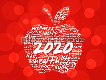Health: 2020 apple word cloud collage health concept #12198