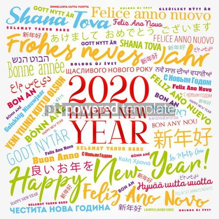 Business: 2020 Happy New Year in different languages #12201