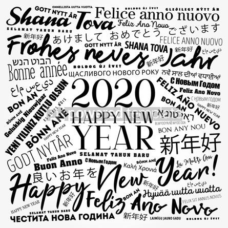 Business: 2020 Happy New Year in different languages #12202