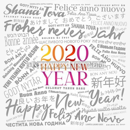 Business: 2020 Happy New Year in different languages #12203