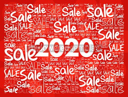 Business: 2020 Happy New Year. Christmas Sale word cloud #12208