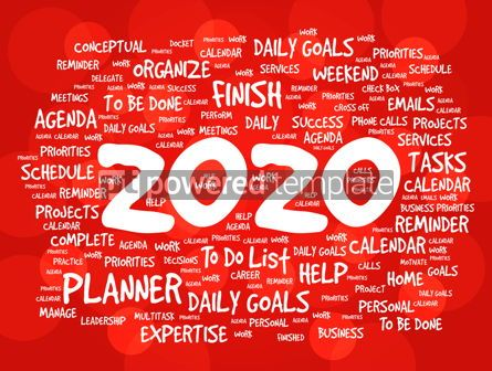 Business: 2020 New Year Goals word cloud #12209