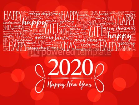 Business: 2020 Happy New Year. Christmas background #12210