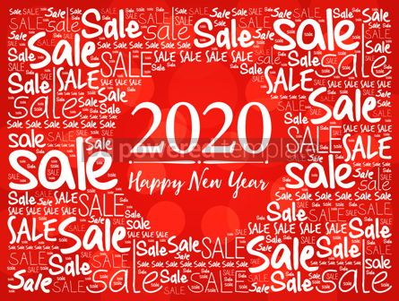 Business: 2020 Happy New Year. Christmas Sale word cloud #12212