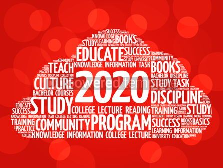 Business: 2020 Education word cloud business concept #12213