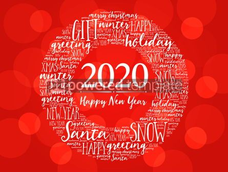Business: 2020 Happy New Year. Christmas background #12214