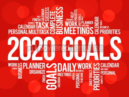 Business: 2020 Goals word cloud collage business concept #12215