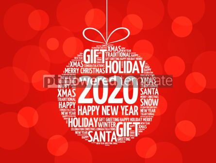 Business: Happy New Year 2020 Christmas ball word cloud #12216