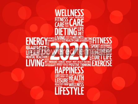 Health: 2020 health and sport goals word cloud #12217
