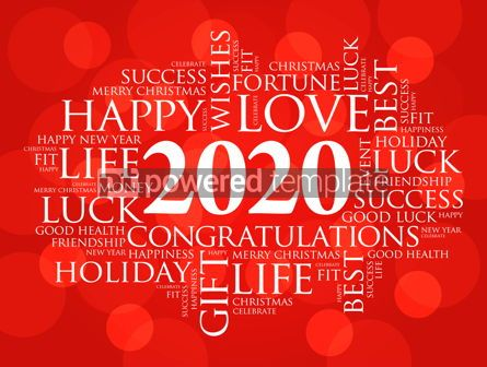 Business: 2020 year greeting word cloud collage #12218
