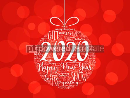 Business: Happy New Year 2020 Christmas ball word cloud #12219