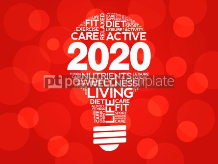 Business: 2020 health goals bulb word cloud health concept #12220