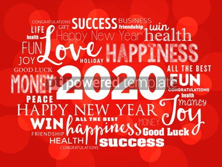 Business: 2020 year greeting word cloud collage #12221