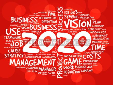 Business: 2020 Goals word cloud collage business concept #12222