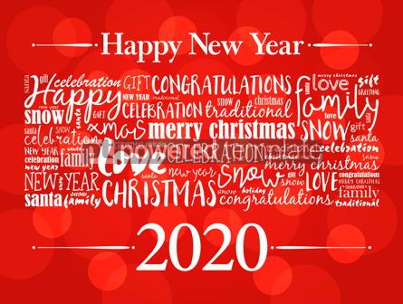 Business: 2020 Happy New Year. Christmas background #12224