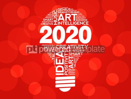 Business: 2020 Creative Ideas bulb word cloud collage #12225