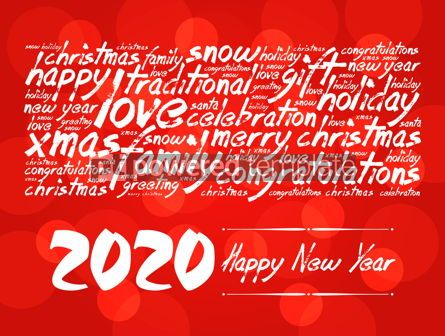 Business: 2020 Happy New Year. Christmas background #12226