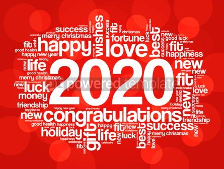 Business: 2020 year greeting word cloud collage #12228