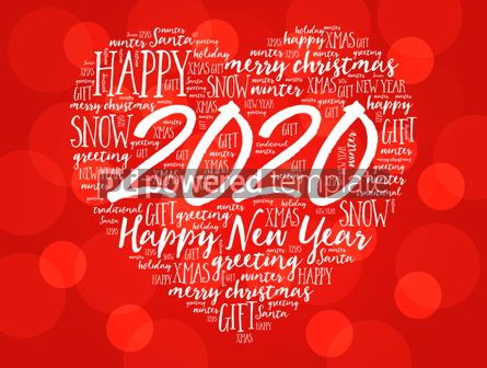 Business: 2020 Happy New Year Heart word cloud collage #12231