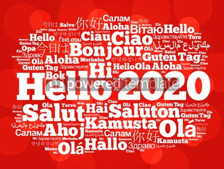 Business: Hello 2020 word cloud in different languages #12232