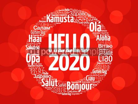 Business: Hello 2020 word cloud in different languages #12233