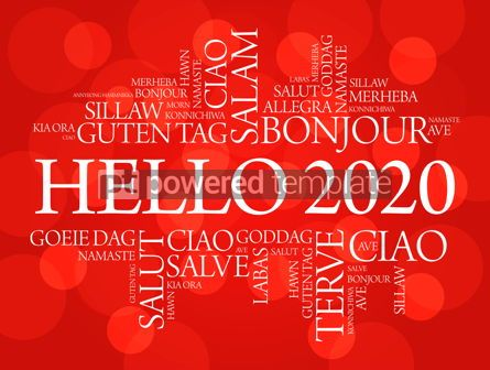 Business: Hello 2020 word cloud in different languages #12234